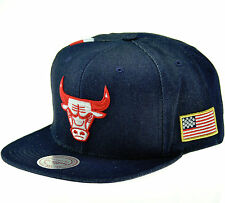 New NBA Mitchell & Ness - Chicago Bulls USA Denim Stripe Stars Snapback Hat