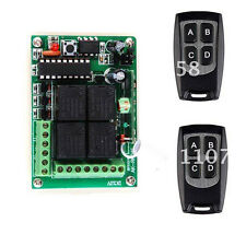 DC12V 4 CH RF Wireless Remote Control Switch Transmitter/Receiver For Light Lamp