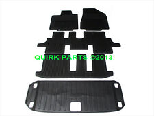 2013 Nissan Pathfinder All Weather Rubber FLOOR MATS & CARGO TRAY Brand New OEM
