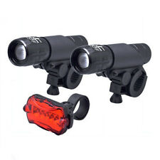 2x CREE LED Head Lights Q5 Front Mount Bike Bicycle Zoomable Waterproof Torch