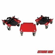 Extreme Max V-Slides Snowmobile Dolly System - Red Steel Same Day Shipping