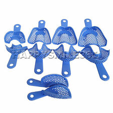 10pcs Plastic-Steel Dental Impression Trays Denture Model Materials NEW