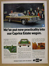 1974 Chevrolet Caprice Estate Station Wagon car photo vintage print Ad