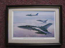 John Young Aircraft print 'Tornado F3's of No 29 Squadron/ Russian Bear - FRAMED