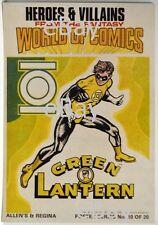 DC Comics HEROES & VILLAINS New Zealand Gum Card POSTER - GREEN LANTERN