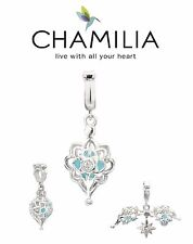 Genuine CHAMILIA 925 sterling silver & Swarovski NORTH STAR dangle charm bead