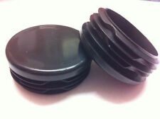 2 x Black Plastic Inserts Blanking End Cap Caps For Round Tube Pipe 40mm / 1½""