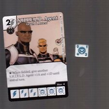 DICE MASTERS AGE OF ULTRON COMMON #63 S.H.I.E.L.D. AGENT CARD WITH DICE
