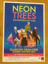 Neon Trees - Glasgow may 2014 tour concert gig poster
