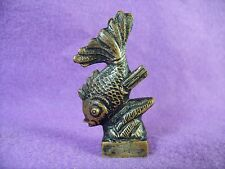 Antique Bronze Betta Fish Sealing Wax Stamp Seal Chop