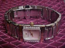 OPULENT MAURICE LaCROIX LADIES STEEL & 18KT GOLD DIAMOND MOP DIAL WRIST WATCH