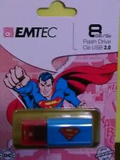 EMTEC C600 Superman 8 GB USB Flash Drive New