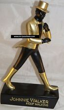 Extremely Rare! Johnnie Walker Keep Walking Gold Edition Figurine Statue