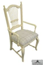 THOMASVILLE Bellasara Collection White Wheat Back Dining Arm Chair 37525-832