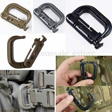 5PC Tactical Grimloc Safety Safe Buckle MOLLE Locking D-ring Carabiner Hook Clip
