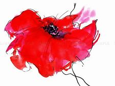 DT SINGLE PAINTED POPPY ART POSTER PRINT BMP10823