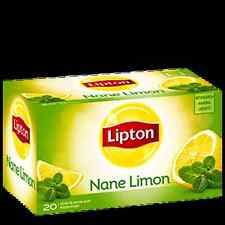 Lipton Instant Lemon&Mint Tea 1 Box x (20 Teabags Herbal/Tisane Bagged )