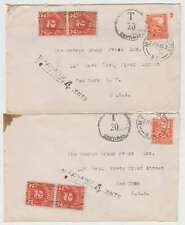 C5880: (2) 1946 New Zealand, US Postage Due Covers