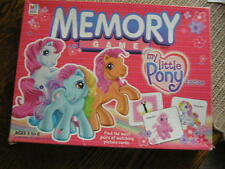 2003 Hasbro MEMORY Game MY LITTLE PONY Ed. For 1+ Players Ages 3-6 No Reading