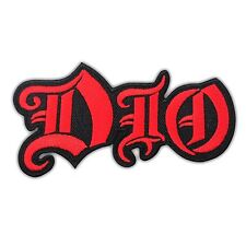 DIO Heavy Rock Metal Music Embroidered Iron On Patch Rock Band Logo Albums Black