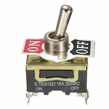 Heavy Duty Metal Toggle Flick Switch 2Pin ON/OFF DPST Double Pole Single Throw
