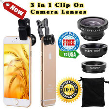 iPhone Camera Lens Attachment Kit Wide Angle Macro Lenses Lux HD450 HD90 5s 6 6s