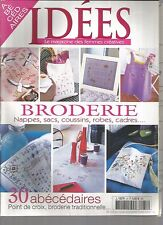 IDEES MAGAZINE N°31 -  30 ABECEDAIRES / BRODERIE : NAPPES, SACS, COUSSINS...