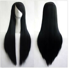 "Women Fashion Black Long Straight Anime Cosplay Party Wigs 80cm/32"" Wig+Wig Cap"
