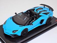 1/18 MR Lamborghini Aventador LP750-4 Superveloce Baby Blue Black SV #01/10
