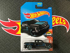 HOT WHEELS CHEVY SILVERADO BLACK HW HOT TRUCKS