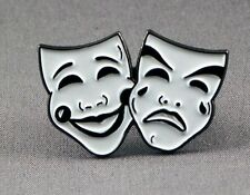 Metal Enamel Pin Badge Brooch Masks Theatre Performing Arts Drama Stage Actors