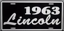1963 LINCOLN METAL LICENSE PLATE COSMOPOLITAN CAPRI PREMIERE CONTINENTAL MARK