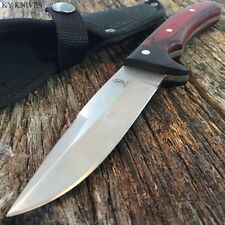 BUCKSHOT Rosewood Fishing Hunting Camping Survival Knife w/Sheath Military