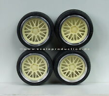 "Scale Production 1/24 BBS LeMans 19"" Wheels Set"