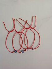 Set 4 Evil Eye Bracelet on a Red String Goldtone Bead