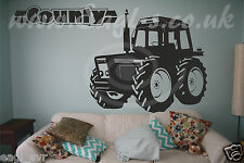 Vinyl wall art Ford COUNTY Tractor decal