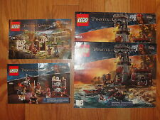 LEGO Disney PIRATES OF THE CARIBBEAN 4182 4194 4194 INSTRUCTION MANUALS ONLY