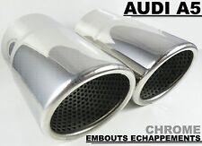 AUDI A5 2009-15 TUBO DE ESCAPE CROMADO CROMO CHROME SLINE QUATTRO TSI TDI 70mm