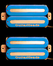 Guitar Parts GUITARHEADS PICKUPS MEGAMETAL HUMBUCKER - Bridge Neck SET 2 - BLUE