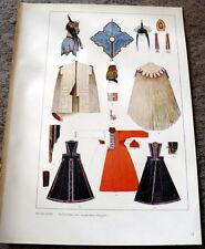 RUSSIAN Ethnic Costume Designs Print Kostumschnitte und Gewandformen 1940s