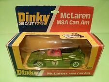 DINKY TOYS 223 McLAREN M8A CAN AM - GREEN No 7 - GOOD CONDITION IN BOX