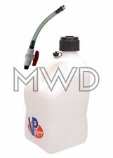 VP 5 Gallon WHITE Racing Fuel Gas Can/Water Jug/Jerry Container/Hose Shut Off