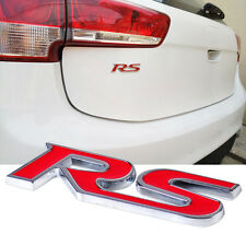 New 3D RED RS Race Sports Metal Car Sticker Auto Decal Emblem Badge Trunk Side