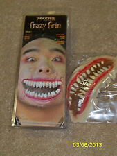 CRAZY GRIN MONSTER TEETH MOUTH LATEX PROSTHETIC COSTUME MAKEUP CSWO307