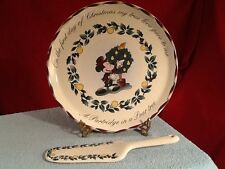 Disney Christmas Partridge in a Pear Tree Cake Plate