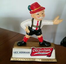 OLD GERMAN BEER HEY HERMAN! BEER DISPLAY CUMBERLAND MARYLAND PREMIUM LAGER