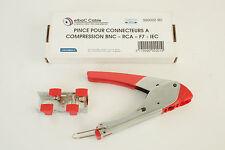 Pince pour connecteurs à compression BNC - RCA - F7 - IEC - F / ELBAC 999002-B0