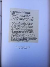 Facsimile of Geneology Page from John Milton's bible , 1687