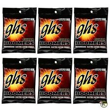6-Pack GHS Electric Boomers GBUL Ultra Light Nickel Steel Guitar Strings (8-38)