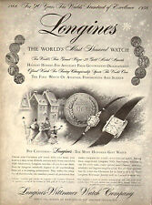 1956 vintage Christmas AD LONGINES Watches longines Wittnauer  121115